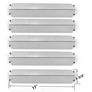 Repair Kit for Charbroil Commercial 463268806 BBQ Grill Includes 5 Stainless Burners and 5 Stainless Heat Plates