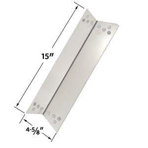 Stainless Steel Heat Shield / Heat Plate for Charbroil 463411512, 463411712, 463411911, C-45G4CB, Kenmore Sears, K-Mart, Nexgrill & Tera Gear Gas Grill Models