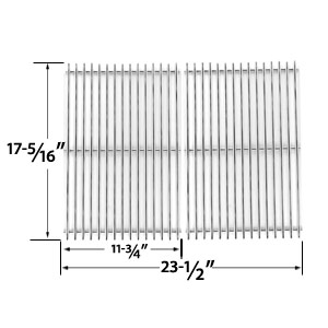 Heavy Duty Stainless Steel Cooking Grid for Broil King 96824, 96827, 96844, 96847, 96894, 96897, 969-24, 969-27, 969-44, 969-47, 969-94, 969-97, 96924, 96994, 96997 Gas Grill Models, Set of 2