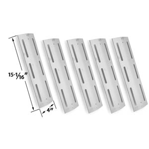 5 Pack Replacement Stainless Steel Heat Shield for Kmart 640-117694-117, Brinkmann 4 Burner 8401, 810-8410-F, Pro Series 8300, 810-8300-W, Grill Chef PAT502, Grand Hall & Kenmore 17682, 17684, 640-117694-117, 141.163291, 141.162271, 141.163211, 141.163231
