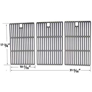 Master Forge 3218LT ,3218LTN, L3218 Gas Grill Repair Kit Includes 5 Heat Shields and Porcelain Cast Grates