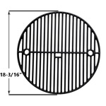 "Premium Cast Iron TWO LEVEL Cooking Grate 18-3/16"" for Large Big Green Egg, Vision Grills VGKSS-CC2 Classic Kamado Charcoal Grill and Broil King Keg 4000"