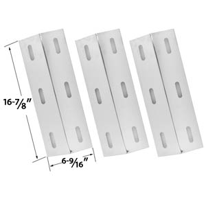3 Pack Stainless Steel Heat Plate Replacement for select Ducane 30500602, 30400040, 30500048 Gas Grill Models