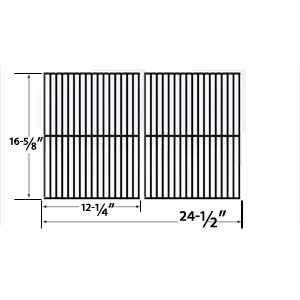 Porcelain Steel Cooking Grid Replacement for Char-Broil 463247004, 463251505, 463251605, 463252005, 463252105, 463253905, 463254405, 463261306, 463261406, 463320109 Gas Grill Models, Set of 2