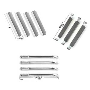Repair Kit for Charbroil 463248108, 463260207, 463260707, 463261107, 463261607, 463268008 BBQ Grill Includes 4 Stainless Burners, 4 Stainless Heat Plates and 3 CrossOver Tube