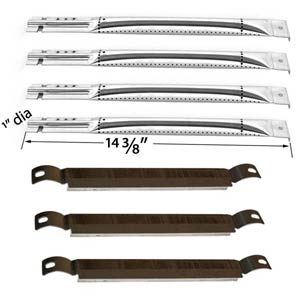 Repair Kit For Charbroil 463420507, 463460708, 463470109, 463460710 BBQ Gas Grill Includes 4 Stainless Steel Burner and 3 Crossover Tubes