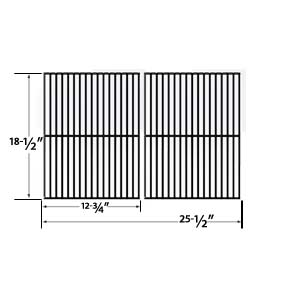 Porcelain Steel Replacement Cooking Grids for Charbroil 463248108, 463268007, 463268008, 463268606, 463268706, 466248108 and Members Mark B09PG2-4B Gas Grill Models, Set of 2