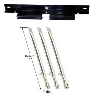 Perfect Flame SLG2007A, SLG2008A, 61701 Gas Grill Repair Kit Includes 3 Stainless Steel Burners and 1 Burner Support Bracket