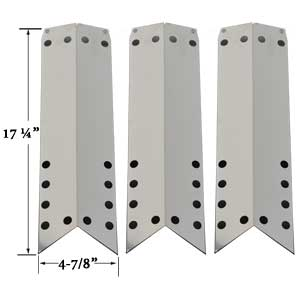 Stainless Heat Shield For Nexgrill 720-0522, 720-0584A, 720-0650A, 720-0430 (3-PK) Gas Models