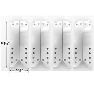 4 Pack Replacement Stainless Steel Heat Plate for Kenmore Sears 122.16431010, 122.16435010, Nexgrill 720-0679R & Uberhaus 780-0007A Gas Models
