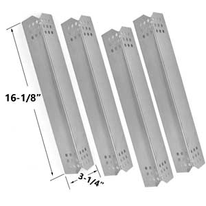 4 Pack Replacement Stainless Steel Flame Tamer for Members Mark 720-0709B, Jenn Air, Outdoor Gourmet GR2057601-OG-00 & Kitchen Aid Gas Grill ModelS