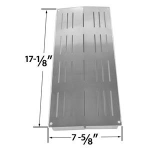 Stainless Steel Heat Shield for Charbroil 4632210, 4632215, 463221503, 4632220, 4632235, 4632236, 4632240, 4632241, 463231503, 463231603, 463233503, 463233603, 463234603 and Grand Cafe GC-1000 Grill Models