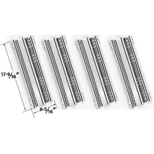 4 Pack Stainless Steel Heat Plate Replacement for Brinkmann and Charmglow Gas Grill Models