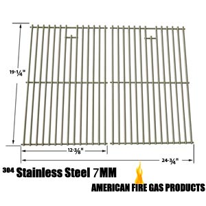 Replacement Steel Cooking Grates For BBQ grillware, Costco, Brinkmann and Presidents Choice Gas Models. Set of 2