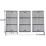 Porcelain Cast Iron Replacement Cooking Grids For Master Chef 85-3100-2, 85-3101-0, G43205, T480 and Kenmore 463420507, 461442513 Gas Grill Models, Set of 3