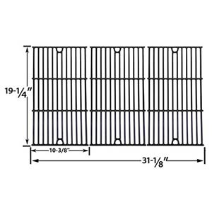 Replacement For Jenn Air Gas Barbeque Grill Model 720-0337, 720 0337 Gas Grill Repair Kit Includes 4 Stainless Heat Plates and 4 Stainless Steel Burners and Porcelain Cast Grates