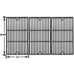 Porcelain Cast Iron Replacement Cooking Grids For Charbroil 466247512, 463247209, 463247310, 463248208, 463263110, 463268107, 463224912, 463231711, 463247209 Gas Grill Models, Set of 3
