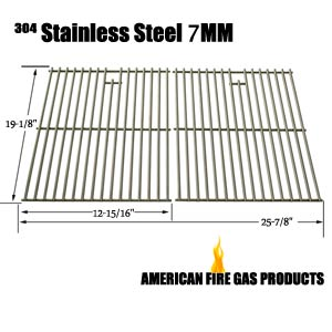 Replacement Heavy Duty Stainless Steel Cooking Grates For Broil-Mate 735269, 735289, 738289, 738989, 746164, 746189, 785964, 786164, 786167, 786184, 786187, 786189, Gas Grill Models, Set of 2