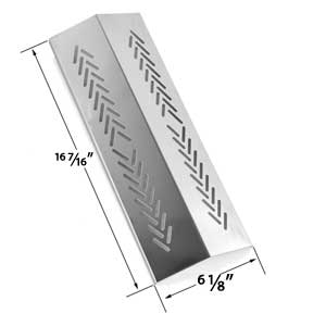 Replacement Stainless Steel Heat Plate for Broil-mate 726454, 726464, 736454, 736464, Grillpro 226454, 226464, 236454, 236464, 2009 & Sterling Gas Grill MOdels