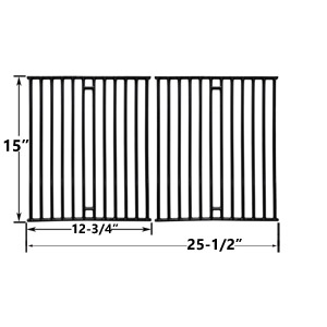 Porcelain Cast Iron Replacement Cooking Grids For Broil King 945584, 945587, 94624, 94627, 94644 and Broil-Mate 1155-54, 1155-57, 115554, 115557 Gas Grill Models, Set of 2
