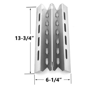 Stainless Steel Heat Plate Replacement for select Broil King, Broil-Mate, Huntington and Sterling Gas Grill Models