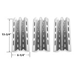 3 Pack Stainless Steel Heat Plate Replacement for select Broil King, Broil-Mate, Huntington and Sterling Gas Grill Models