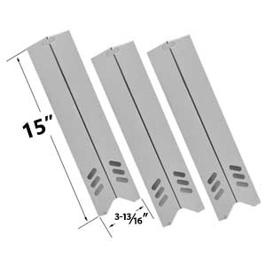 3 Pack Stainless Steel Heat Plate Replacement for Uniflame, Backyard Grill BY12-084-029-98, BY13-101-001-12, BY13-101-001-13, GBC1255W, BHG, Lowes Model Grills