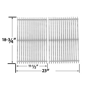 Replacement Stainless Steel Cooking Grid for Kenmore (Sears) 119.16301, 119.16301800, 119.16302, 119.16433010, 119.16434010, 16301, 16302, 119.16302800, 141.16226 and Members Mark BQ05051 Gas Grill Models, Set of 2