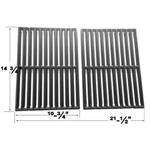 Cast Iron Cooking Grates For Broil King 934654, 934657, 934664, 934667, 934674, 934677, 94224, 94227, 94244, 94247 Models, Set of 2