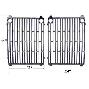 Porcelain Cast Iron Cooking Grates For Jacuzzi JC-4010 , JC-4020 , JC-4020-LPPC , JC-4020-NPB , JC-4020-NPC , JC-4020-NPM Gas Models, Set of 2