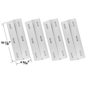 4 Pack Replacement Stainless Steel Heat Plate for select Gas Grill Models by Ducane 4100, 4200, 4400, S3200, S5200