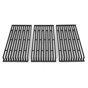 Porcelain Cast Iron Replacement Cooking Grid For Fiesta FG500057-103, FG50057-703NG, FG50069, FG50069-U401, FG50069-U409, FG50069-U411, FGD50067-101, FGF50057, FGF50069-103, FGF50069-U40 Gas Grill Models, Set of 3