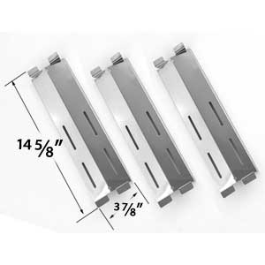 3 Pack Stainless Steel Replacement Heat Sheidl for Gas Grill Models by Coastal 9900, Cruiser, Supreme, Grand Hall MFA05ALP, Patio Range, Grand Hall, Jamie Durie Patio Kitchen 4 and 6 burner, Members Mark M3206ALP, M3206ANG, Patio Chef SS64, SS64LP, SS64NG