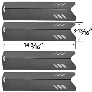 4 Pack Replacement Porcelain Heat Shield for Uniflame GBC1030W, GBC1030WRS, GBC1030WRS-C, GBC1134W, GBC1134WRS, Uniflame GBC1134WBL Lowes Gas Grill Models