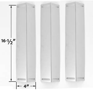 3 Pack Stainless Steel Heat Plate for Master Forge GCP-2601, GGP-2501, GGPL-2100CA, Charbroil, Brinkmann & Master Chef Gas Models