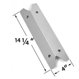 Stainless Steel Heat Shield for Brinkmann 810-9210-S, 910-9210S, 810-9410S, 810-9410-S, 810-9510S, 810-9510-S, 810-9211S, 810-9211-S, 810-9210-M, 810-9410-0, 810-9410-M, Charmglow and Outdoor Gourmet Gas Grill Models