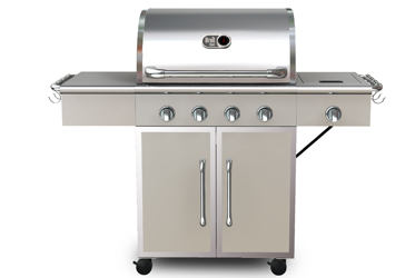 BROIL CHEF 4+1 BURNER DELUXE LP GAS GRILL MODEL