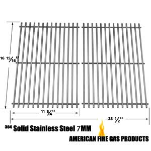 Replacement Stainless Steel Cooking Grids For Brinkmann 2500, 2500 pro series, 2600, 2700, 2720, 4425, 4445, 6440, 6650, 6668, 6670, 810-2500, 810-2500-0, 810-2500-1, 810-2600-0, 810-2600-1, 810-2610-0 Gas Grill Models, Set of 2