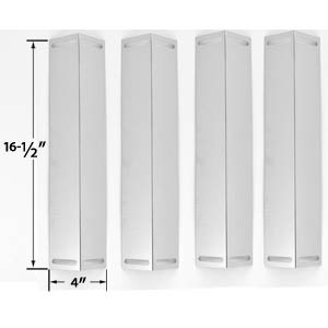 4 Pack Stainless Steel Heat Shield for Uniflame GBC1076WE-C, GBC976W, Charbroil, Brinkmann & Master Chef Gas Models