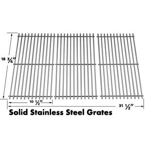 Stainless Steel Cooking Grid for Centro 5000rt, 85-1211-0, 85-1251-4, g60104, g60105, 463241004 and Charbroil 463241904 Gas Grill Models, Set of 3