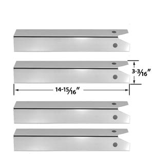 4 Pack Stainless Steel Heat Plate for CFM TG475-2, Uniflame and Lynx L27-2-2010, L27F-2-2010, L27FR-2-2010, L27PSFR-2-2010 Grill Models