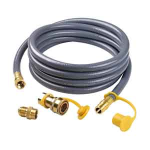 "1/2"" Natural Gas 8 Feet Hose With Quick Disconnect For High Output Grills"
