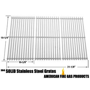 Stainless Steel Cooking Grid Replacement for select Gas Grill Models by Kenmore 122.16648900, 16648, 640-82960819-9, 720-0650A, 16648, Jenn-Air, Brinkmann, Charmglow 720-0396, 720-0536, 720-0578, 810-8500-S, 720-0234, 720-0289, 810-850-F and Others, Set o