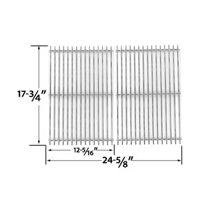 Stainless Steel Cooking Grid Replacement for DCS PC-2600, PC-26001, PC-2600L, PC-2600N, PCA-2600L, PCA-2600N Gas Grill Models, Set of 2