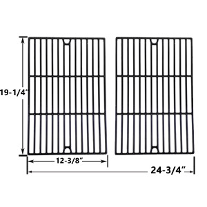 Porcelain Cast Iron Replacement Cooking Grids For Weber Genesis e-320, e-320 2007, e310, e310 2007, e320, e320 2007, ep-310, ep-310 2007, ep-320, ep-320 2007, ep310 2007 Gas Grill Models, Set of 2