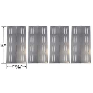 4 Pack Stainless Steel Replacement Heat Shield for Grill Chef PR364 , Barbeques Galore 3BENDLP, Members Mark Models REGAL04CLP, Charbroil 463742111, Grand Hall REGAL04CLP, Sams Members Mark Regal 04CLP and Patio Chef SS42, Patio Chef SS54, Patio Chef SS72