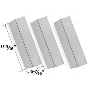 3 Pack Stainless Steel Replacement Heat Plate for Sonoma SGR30MLP, Coleman 9998, Tuscany CS784LP, CS892LP, SGR30MLP, SH-CS812LP, Sure Heat for Costco CS784LP, CS892LP, SGR30MLP, SH-CS812LP, SGR27LP Gas Grill Models