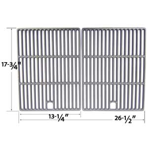 Cast Iron Cooking Grid for Uniflame GBC621C, GBC621CR-C, GBC730W, GBC730W-C, GBD621CR-C and XPS DXH8303 Gas Grill Models, Set of 2