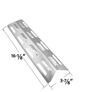 Replacement Stainless Steel Heat Plate/shield for Kenmore 119.16433010, 119.16434010, 119.16658010, 119.16240, Master Forge B10LG25, Perfect Flame and BBQTEK Gas Grill Models