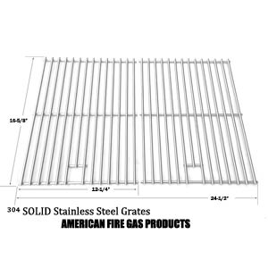 Stainless Steel Cooking Grid for Centro 2000, 4000, 85-1210-2, 85-1250-6, 85-1273-2, 85-1286-6, G40204, G40205, G40304, G40305, G40202 Gas Grill Models, Set of 2
